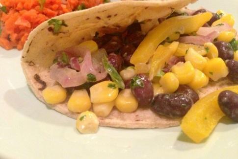 Veggie Tacos with Aji Verde